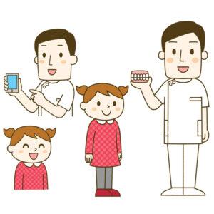 公益社団法人日本歯科技工士会のために描いた歯科技工士さんと女の子