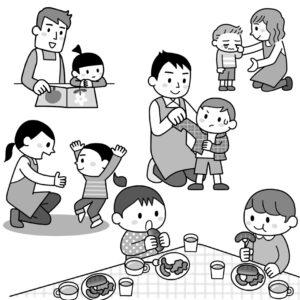新幼児と保育イラスト
